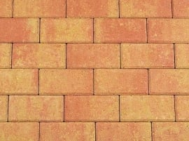 Betonklinker 6 cm terracotta geel