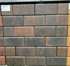 Betonklinker 6 cm bruin zwart