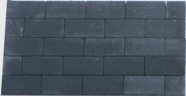 Design Brick 6 cm black mini facet deklaag