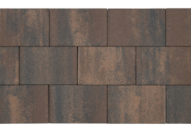 Patio square 20x30x6 marrone viola