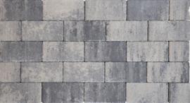 Design Brick 8 cm nero grey mini facet deklaag