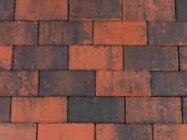 Halve betonklinker 8 cm rood zwart