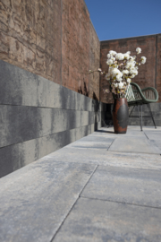 Pallatico linea Block 15x15x60 reliëf Nero Grey (per laag, 8 stuks)