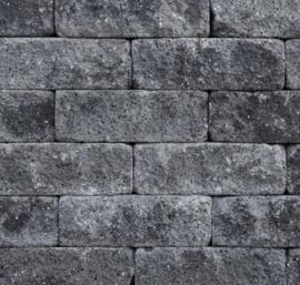 Splitrocks 11x13x32 grijs zwart getrommeld