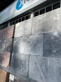 Trommelkassei 20x30x4 grijs zwart