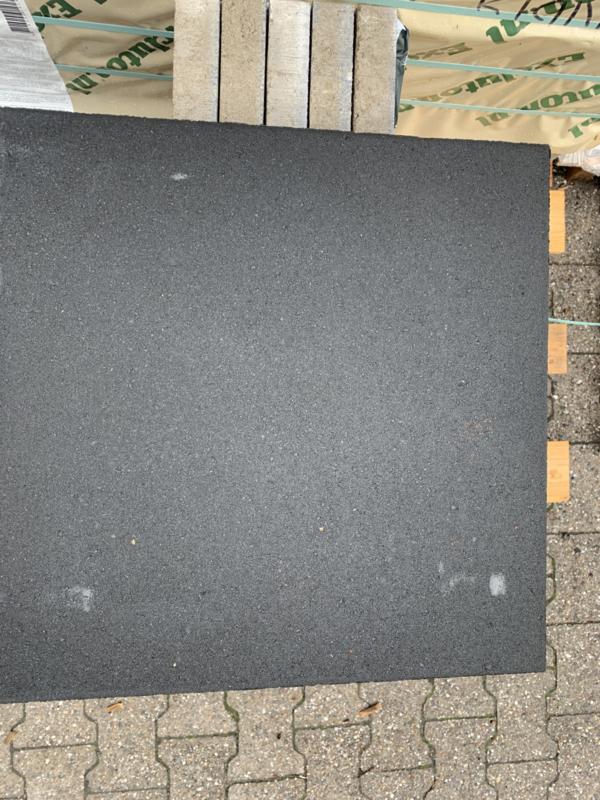 Drainage Tegels 50x50.Betontegel 50x50x4 Antraciet Zonder Facet Betontegels