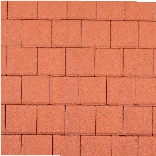 Halve betonklinker 8 cm rood