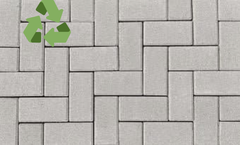 RecyBase Betonklinker 8 cm grijs