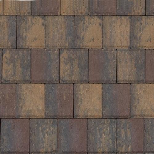 Halve betonklinker 8 cm paars
