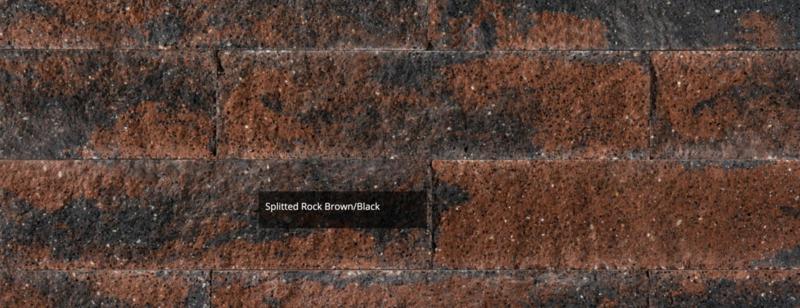 Splitrocks XL 15x15x60 blok bruin zwart