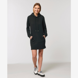 Steffie hooded sweater dress Black