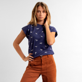 T-SHIRT VISBY WHALES, NAVY