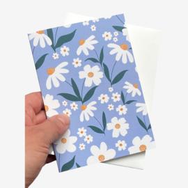 Daisy dubbele kaart met envelope