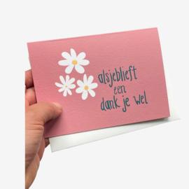 Alsjedlieft dubbele kaart met envelope