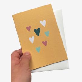 Hartjes dubbele kaart met envelope
