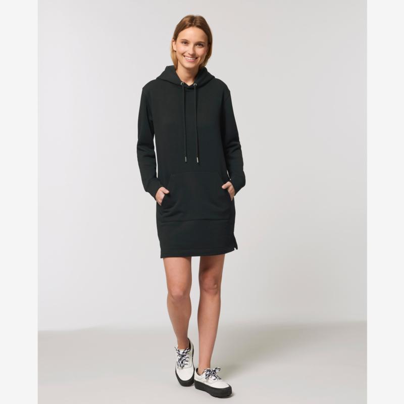 Steffie hooded sweater dress Black
