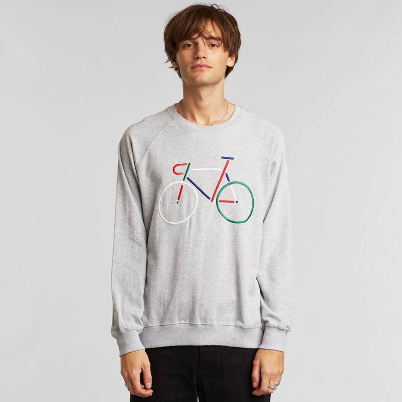 Sweatshirt Malmoe Color Bike Grey Melange