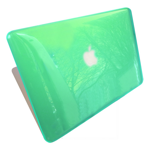 Macbook Air 13 inch hardcase  Groen (doorzichtig)