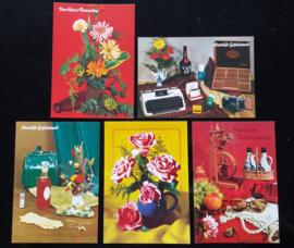 Set van vijf kaarten (02).