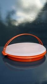 Tupperware serveerschaal, oranje.