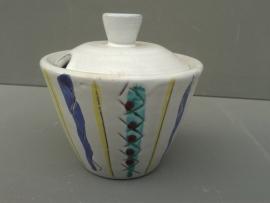 Vintage aardewerk suikerpotje