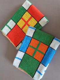 Set handdoeken blokken (nieuw).