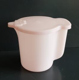 Tupperware schenkkan. Roze, groot.