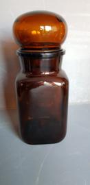Apothekerspot vierkant, bruin,  0,9 L