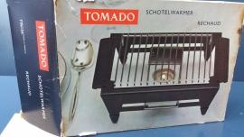 Zwart rechaud, Tomado. Eén pits (art.Rkl 06).
