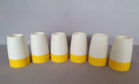 Set van zes eierdoppen, Tupperware.