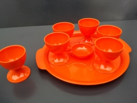 Oranje eierdopset.