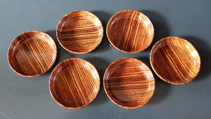 Onderzetters houtprint.