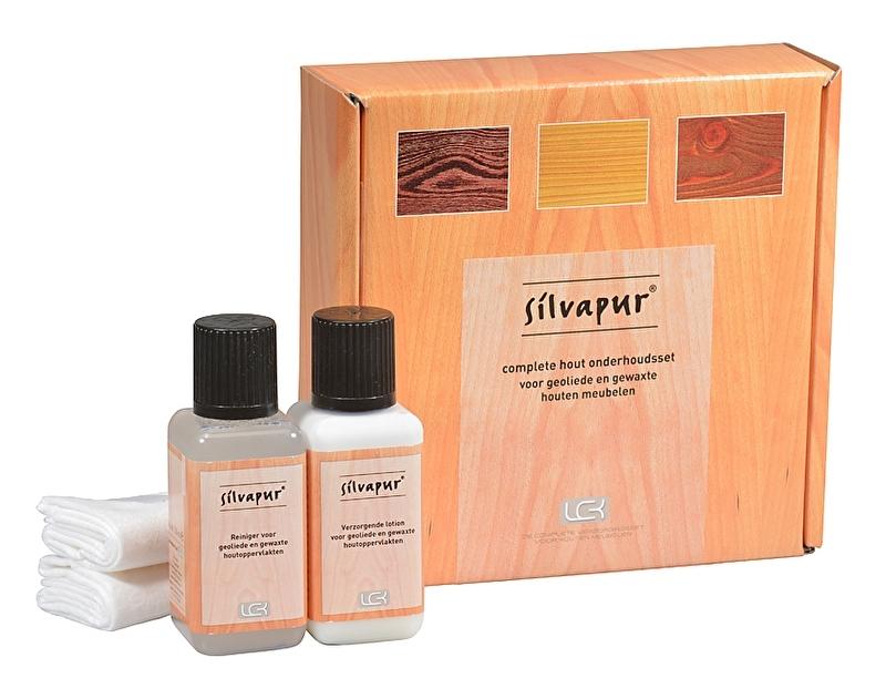 Silvapur® complete onderhoudsset voor geoliede en gewaxte houten meubelen.