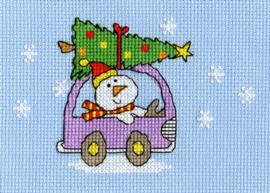 Borduurkaart - Kerst