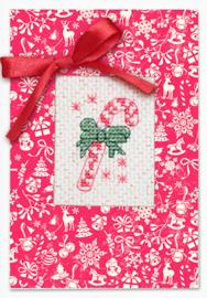 Borduurkaart - Christmas Candy