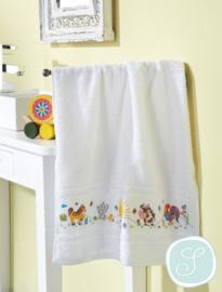 Handdoek met borduurrand