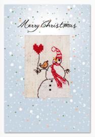 Borduurkaart Snowman
