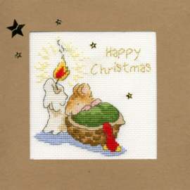 Borduurkaart - Je Eerste Kerstfeest