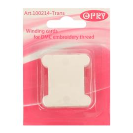 Plastic Wikkelkaartjes  Transparant - Opry
