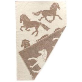 Hestatep deken - Paarden - bruin