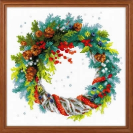 Wreath with Blue Spruce