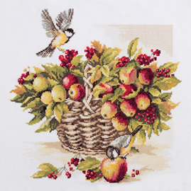 Bouquet of Apples and Great Tit