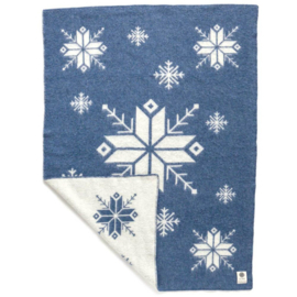 Hestatep deken - Sneeuwvlok blauw