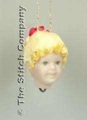 Porseleinen poppenhoofdje, handgemaakt