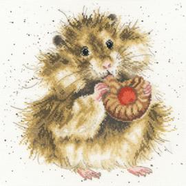 Hamster met koekje