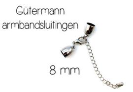 Sluiting voor ketting - armband 8 mm