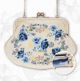Handtasje Blauwe Roosjes
