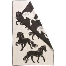 Hestatep deken - Paarden - zwart