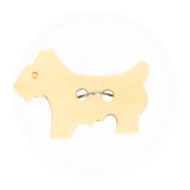 Houten Knoop - Hond