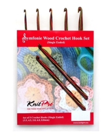 KnitPro Symfonie - Haaknaaldenset van gekleurd hout
